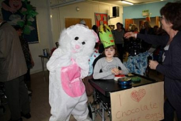The Easter Bunny visited The Children's Trust – with lots of chocolate @childrens_trust
