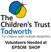 Helpers needed at  The Children's Trust Epsom shop @childrens_trust