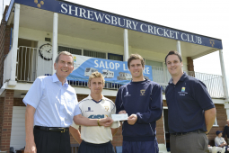 Shrewsbury based caravan dealership continues support for local cricket