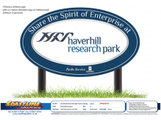 "Haverhill's Spirit of Enterptise roundabout is given a ""wash and brush-up"""