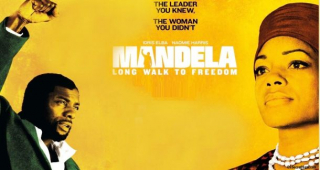 Moving portrait of the late Nelson Mandela at Shrewsbury Cineworld Cinema