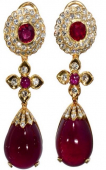 Julie Peel Jewellery celebrate the birthstone for January with 50% off limited edition garnet 'Infinity' earrings