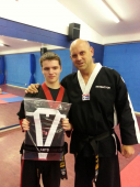 Nothing gets in the way of young Daniel achieving his 3rd dan black belt!