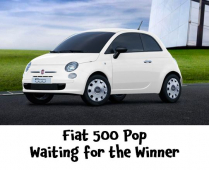 White FIAT 500 Pop – Ordered ready for the winner  @PersonalAgentUK #sellmyhouse