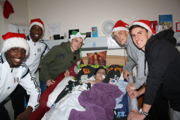 Fulham FC Players Play A Blinder Visiting The Children's Trust @childrens_trust @FulhamFC
