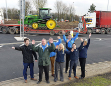 Shrewsbury caravan dealership celebrates as Emstrey roundabout roadworks are completed