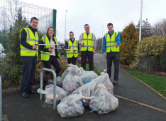 Shrewsbury caravan dealership's army of litter pickers support Community Clear-up campaign