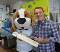 Tuffers at Children's Trust Tadworth store for Superdraw Raffle @Childrens_trust
