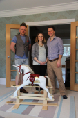 The beautiful Rocking Horse from Grant and Valentine meets its owners @PersonalAgentUk #rockinghorse #grantandvalentine