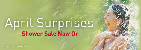 April Surprises - Ripples Brighton Shower Sale - To 30th April