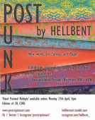 Post Punk - New York street artist 'Hellbent' exhibits at Prescription Art