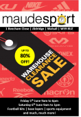 Maudesport Warehouse Clearance Sale - 5th and 6th June 2015