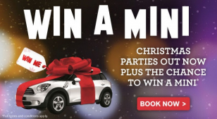 Win a Mini when booking a place at one of Village Hotel Bury's Christmas party nights!