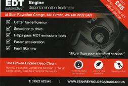 Engine Decontamination Treatment in Walsall