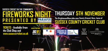 Sussex Cricket in the Community Fireworks Night 2015 at The County Ground Hove
