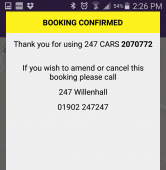 Booking a taxi couldn't be simpler with the new booking app from 247 Cars