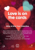 Valentine's Menu at Grosvenor Casino Walsall
