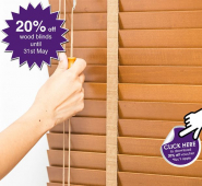 20% OFF Wood Blinds at Milners in Ashtead