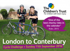 London to Canterbury Charity Cycle for The Children's Trust @Childrens_trust
