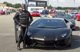 Television Stars Enjoy A Spin At The Supercar Event! @Childrens_Trust