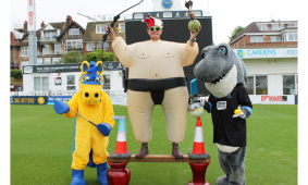 crazy rockinghorse sportathon event at the county ground in hove