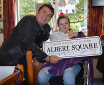 Shane Richie surprises birthday girl during her stay at brain injury rehabilitation centre @Childrens_Trust @realshaneritchie