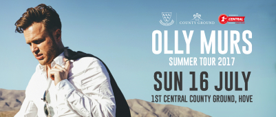 Olly Murrs Concert at the County Ground in Hove June 2017.