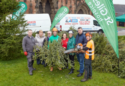 St Giles Raises £8,500 in Treecycling Campaign