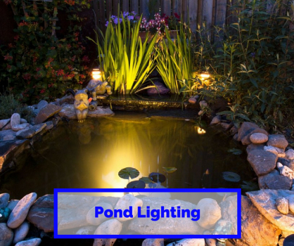Garden lighting with AC Electrical Services