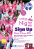 Ladies in the night walk in aid of Michael Sobell Hospice