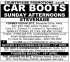 Car Boot Sale - Sunday Afternoons