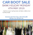 Bank Holiday Monday Car Boot Sale
