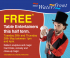 FREE Table Entertainers this Half Term at The Waterfront
