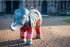 Baby Elephant Parade in the City Centre
