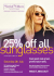 25% off ALL sunglasses at Wardale Williams in Sudbury