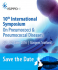 The International Symposium on Pneumococci and Pneumococcal Diseases