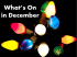 A Guide to What's On during December in Stevenage