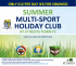 SUMMER HOLIDAY CLUB MULTI-SPORT AT ST NEOTS TOWN FC