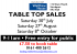 Table Top Sale at Walthew House