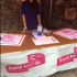 Race For Life sign up stand.