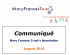 Communiqué – News from The Mary Francis Trust @MaryFrancisTrst