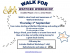 Watford Workshop Sponsored Walk