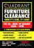 Quadrant to Hold a Huge Furniture Clearance Sale