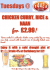 Tuesdays night Food offer @ 442 Bar & Grill