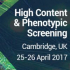 High Content and Phenotypic Screening 2017