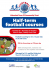Half Term Football Courses at Aldershot FC