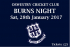 Burns Night at Oswestry Cricket Club