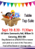 Table Top Sale at All Saints Community Hall.