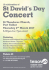 St David's Day Celebration Concert