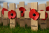 Remembrance, poppies, cross